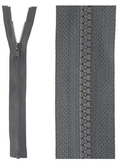 open end zipper  -grey color 182