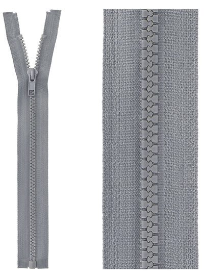open end zipper  -grey color 578