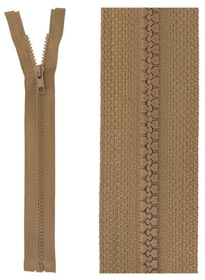 open end zipper - taupe color 563