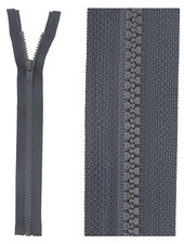 open end zipper -  anthracite color 71