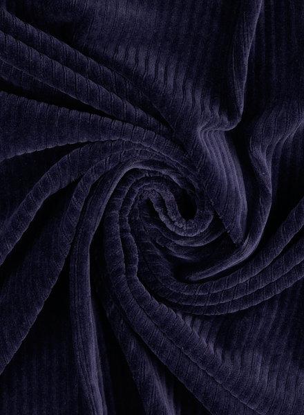 marine - rekbare corduroy - 100% katoen