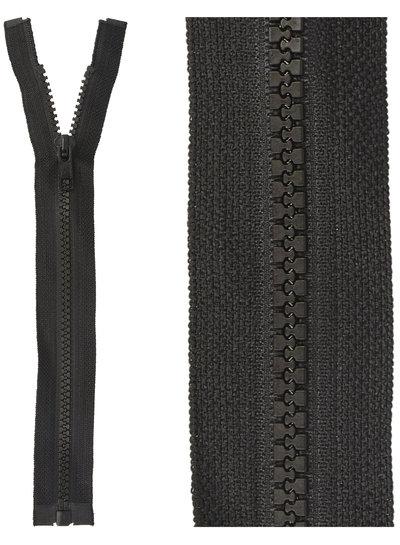 open end zipper - black color  580