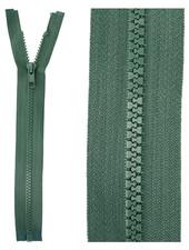open end zipper - dark green color 530