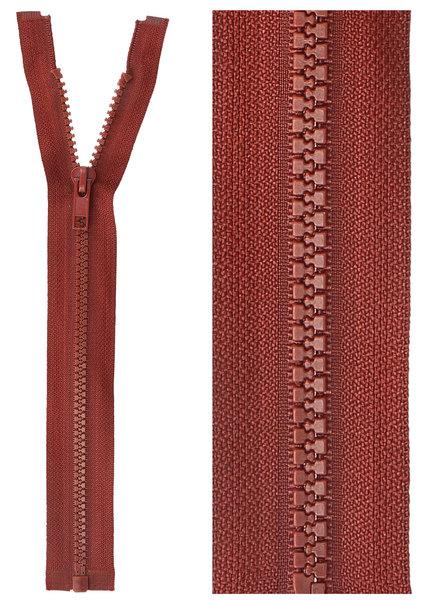 open end zipper - dark red color 520