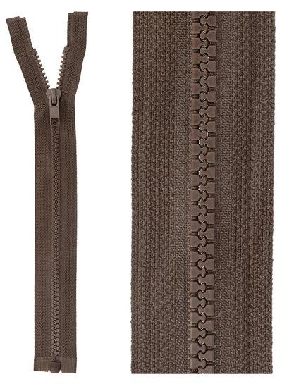 open end zipper - dark brown color 570