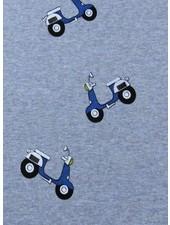 blauw melee scooter - happy fleece