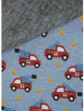 blue fire truck - happy fleece