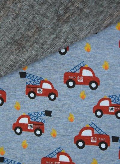 blauw melee brandweerauto - happy fleece