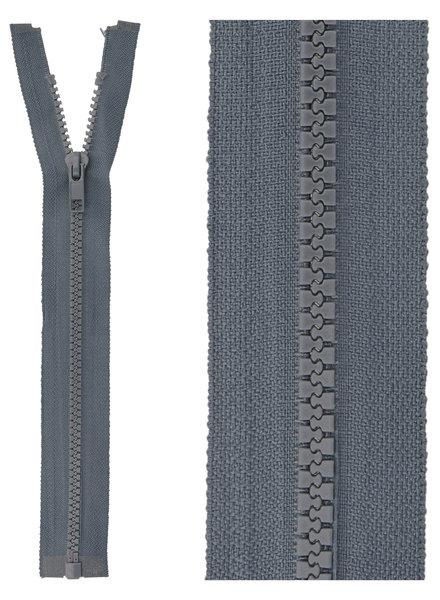 open end zipper - blue grey color 579