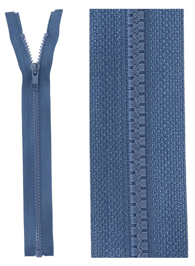open end zipper - denim blue color 557