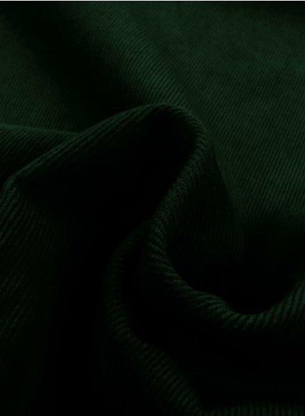 petrolgroen - dunne ribbel rekbare corduroy