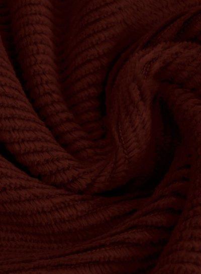 bordeaux - dunne ribbel rekbare corduroy