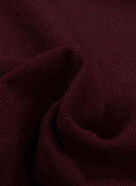 burgundy - stretch corduroy fine