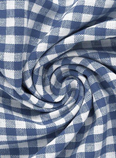 vichy ruit jeansblauw - katoen