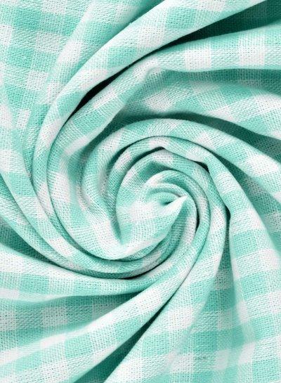 vichy squares mint - cotton