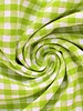 vichy squares greeen - cotton