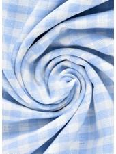 vichy ruit lichtblauw- katoen