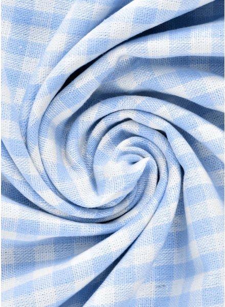 vichy squares light blue - cotton