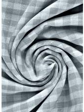 vichy squares grey - cotton