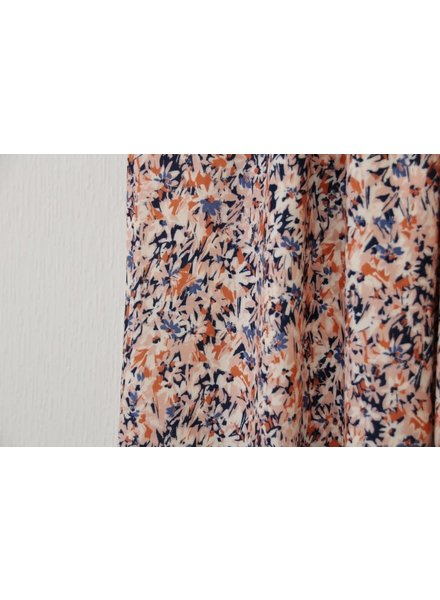Atelier Jupe pink and blue flowers - viscose
