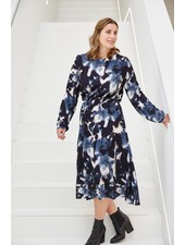 Atelier Jupe Blue with blurred pattern - viscose
