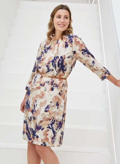 Atelier Jupe Blue and beige marbled - viscose