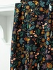 Atelier Jupe Dark blue with colourful print - viscose