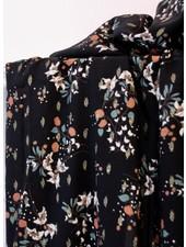 Atelier Jupe Black lurex  with soft flower print - viscose