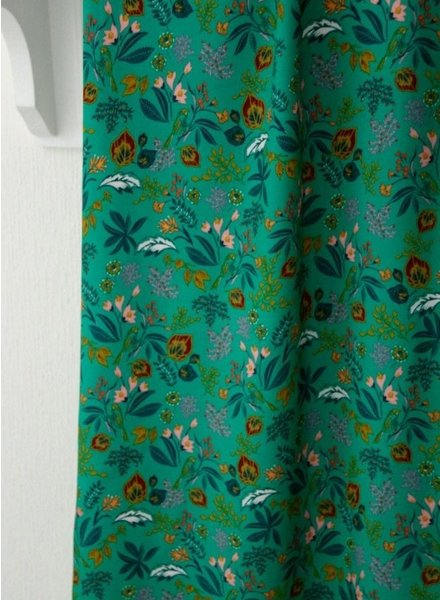 Atelier Jupe Bright green with colourful print - viscose