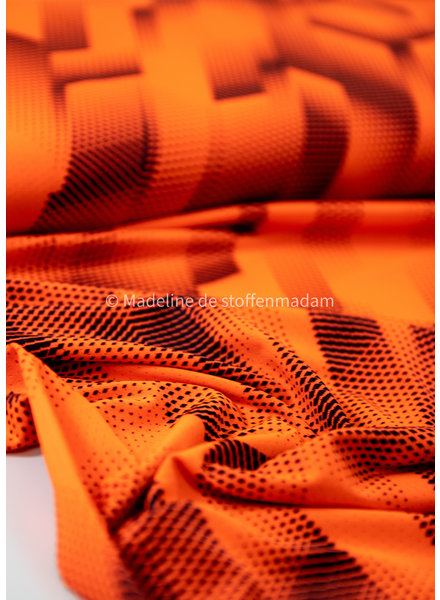neon orange - sport clothing / lycra
