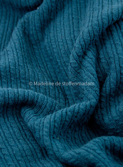 petrol cable structure - wool mix sweater