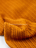 ocre cable structure - wool mix sweater