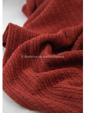 rusty cable structure - wool mix sweater