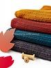 petrol kabelstructuur - wasbare wolmix sweater