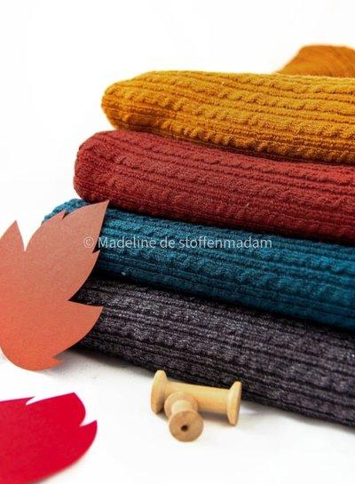 grijs kabelstructuur - wasbare wolmix sweater