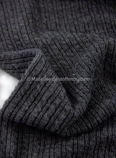 grey cable structure - wool mix sweater