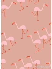 about blue fabrics Flamingo - Wonders of life