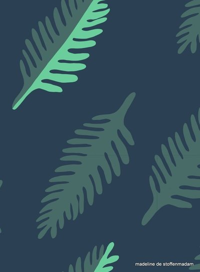 about blue fabrics Leaf - Wonders of life