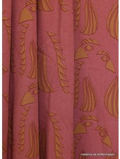 about blue fabrics Parrot red viscose - Wonders of life