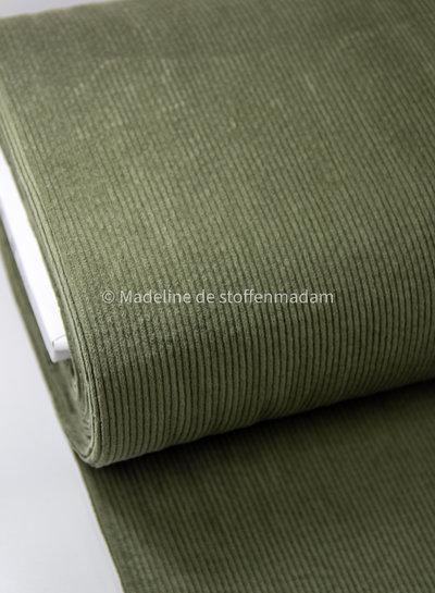 khaki - soepelvallende corduroy - lichte stretch