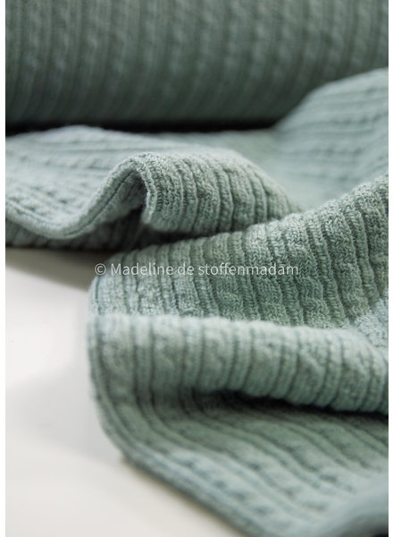 mint cable structure - wool mix sweater