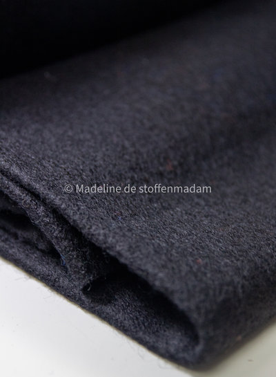 black - boiled wool - bouclé