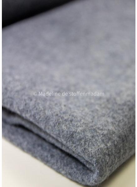 gekookte wol - wolvilt - grijsblauw