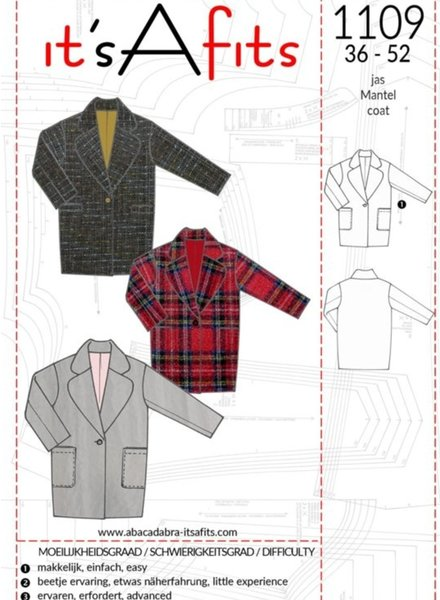 1109 eenvoudige mantel - it's a fits