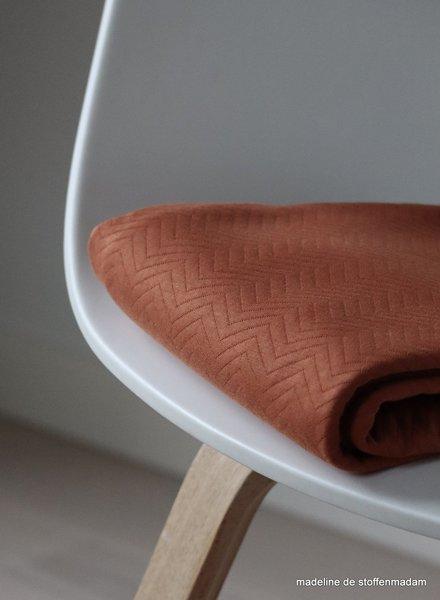 Mind The Maker organic chevron quilt rust