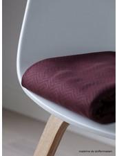Mind The Maker organic chevron quilt bordeaux  - doorstikte stof