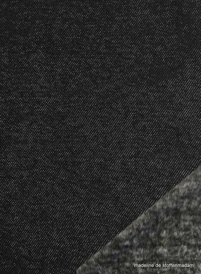black jeans - happy fleece