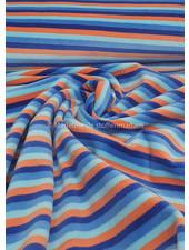 blauw en oranje strepen- nicky velours - oeko tex