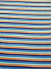 blue and orange stripes - nicky velours - oeko tex