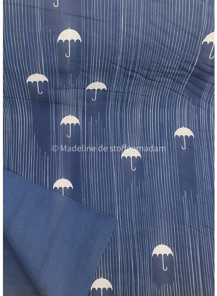 blauwe paraplu - softshell